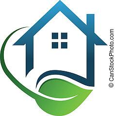 eco, épület, zöld