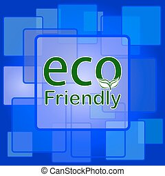 eco, ícone, amigável