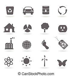 eco, ícone, jogo