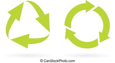 eco, újra felhasznált, biciklizik, ikon