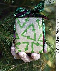 eco, ανακυκλώνω , χριστουγεννιάτικο δώρο