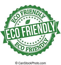 eco, γραμματόσημο , φιλικά