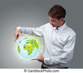 eco, επιχειρηματίας , κράτημα , κατ' ουσίαν καίτοι όχι πραγματικός , σήμα