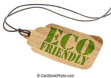eco, ετικέτα , φιλικά , απομονωμένος