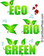 eco, πράσινο , απεικόνιση
