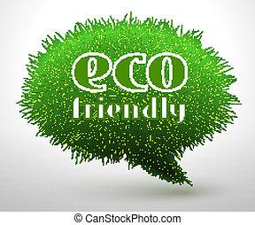 eco, φιλικά , γενική ιδέα , ή , έμβλημα