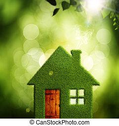 eco, абстрактные, backgrounds, экологическая, деревня, дизайн, ваш