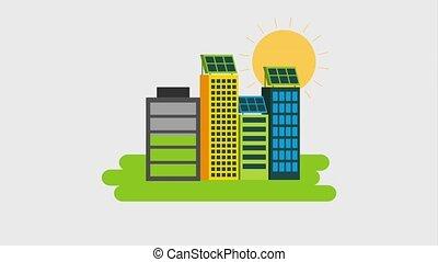 eco, エネルギー, アニメーション, 緑
