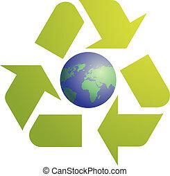eco, シンボル, リサイクル