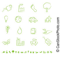 eco, シンボル, 緑