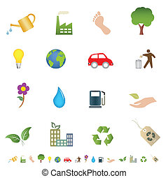 eco, シンボル, 緑, 環境