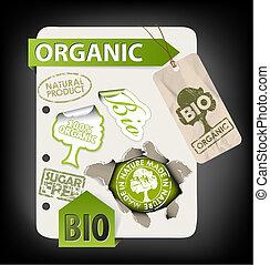 eco, セット, 要素, 有機体である, bio