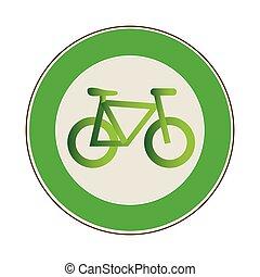 eco, フレーム, 自転車, 円