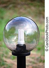 eco, ライト, ランプ, 通り, 電球