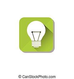 eco, ライト, 環境, 緑, きれいにしなさい, 電球, 電気である, 心配, アイコン