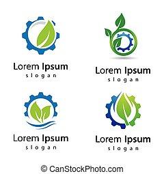 eco, ロゴ, デザイン, 技術