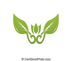 eco, ロゴ, ベクトル, デザイン, テンプレート