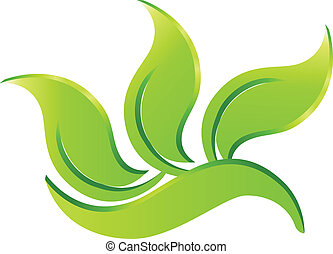 eco, ロゴ, 緑