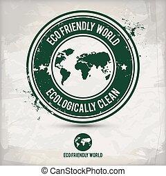 eco, 世界, 選択肢, 切手