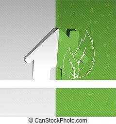 eco, 家, デザイン, 背景