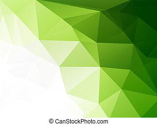 eco, 幾何学的, 緑, モザイク, 背景