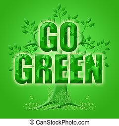 eco, 惑星, 木, 緑, 行きなさい