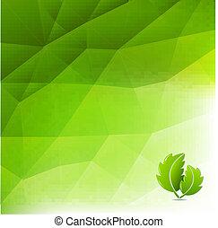 eco, 摘要, 綠色的背景