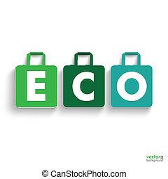 eco, 有色人種, 買い物, 紙袋