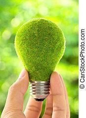 eco, 燈泡, 概念