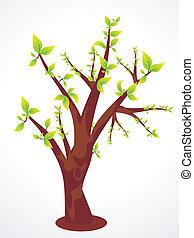 eco, 緑の木, 抽象的