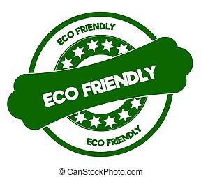 eco, 緑, 味方, stamp.