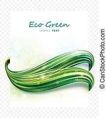 eco, 緑, 波