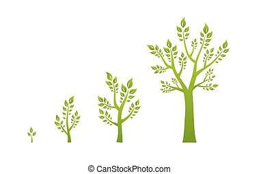 eco, 绿色, 概念, 树, 增长
