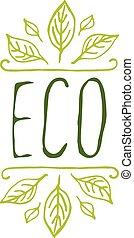 eco, 背景, 產品, 白色, 標簽