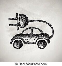 eco, 自動車, アイコン