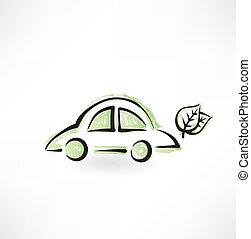 eco, 自動車, グランジ, アイコン