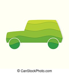 eco, 自動車, 味方, アイコン