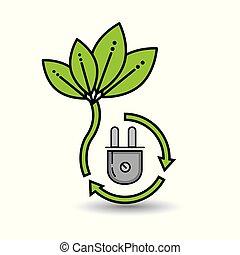 eco, 自然, エネルギー, 緑, デザイン