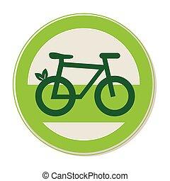 eco, 自転車, 紋章, 円