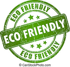 eco, 郵票, 矢量, 友好