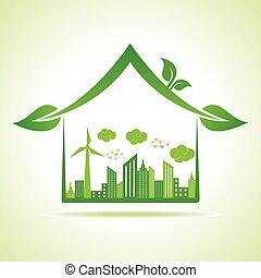 eco, 都市の景観, 家