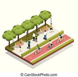 eco, 都市, 構成, 輸送