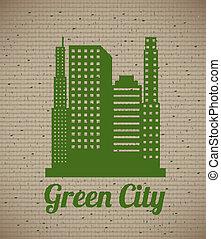 eco, 都市, 緑