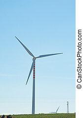 eco, 風エネルギー, 源, タービン, 回復可能, 力
