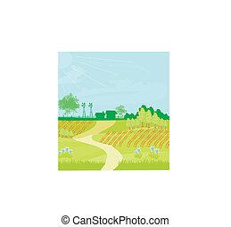 eco, 風景, 務農, -