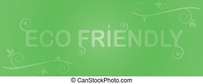 eco, 녹색, 친절한, 은 잎이 난다, 상표