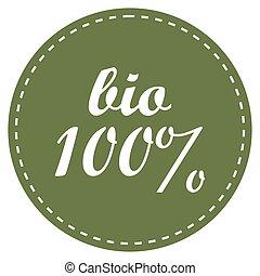 Eco 100 percent vector icon. Eco badge ecology label vector illustration