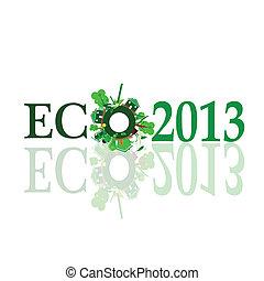 eco 2013 sign illustration