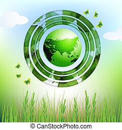 eco, aarde, ontwerp