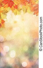 eco, abstract, herfstachtig, ontwerp, rain., spandoek, jouw